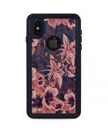 Dark Tapestry Floral iPhone XS Waterproof Case