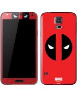 Deadpool Logo Red Galaxy S5 Skin