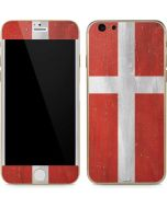 Denmark Flag Distressed iPhone 6/6s Skin