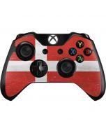 Denmark Flag Distressed Xbox One Controller Skin