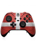 Denmark Flag Distressed Xbox One Elite Controller Skin