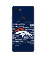 Denver Broncos Blue Blast Google Pixel 3 XL Skin