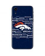 Denver Broncos Blue Blast iPhone XR Skin