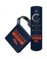Denver Broncos Blue Performance Series Amazon Fire TV Skin