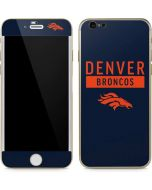 Denver Broncos Blue Performance Series iPhone 6/6s Skin