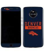 Denver Broncos Blue Performance Series Moto X4 Skin