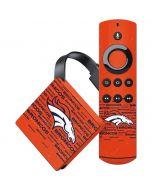 Denver Broncos Orange Blast Amazon Fire TV Skin