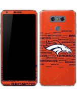 Denver Broncos Orange Blast LG G6 Skin