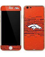 Denver Broncos Orange Blast iPhone 6/6s Skin