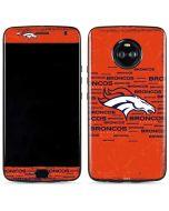 Denver Broncos Orange Blast Moto X4 Skin