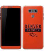 Denver Broncos Orange Performance Series LG G6 Skin