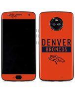 Denver Broncos Orange Performance Series Moto X4 Skin