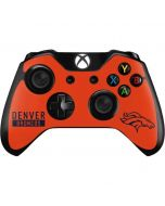 Denver Broncos Orange Performance Series Xbox One Controller Skin