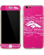 Denver Broncos Pink Blast iPhone 6/6s Skin