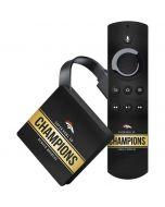 Denver Broncos Super Bowl 50 Champions Black Amazon Fire TV Skin
