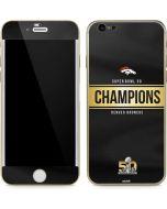 Denver Broncos Super Bowl 50 Champions Black iPhone 6/6s Skin