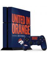 Denver Broncos Team Motto PS4 Console and Controller Bundle Skin
