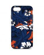 Denver Broncos Tropical Print iPhone 8 Pro Case