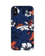 Denver Broncos Tropical Print iPhone X Pro Case
