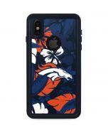 Denver Broncos Tropical Print iPhone X Waterproof Case