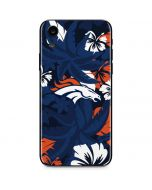 Denver Broncos Tropical Print iPhone XR Skin