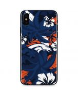 Denver Broncos Tropical Print iPhone XS Max Skin