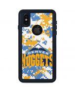 Denver Nuggets Digi Camo iPhone X Waterproof Case