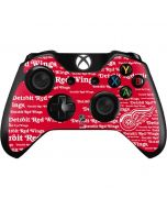 Detriot Redwings Blast Xbox One Controller Skin