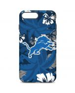 Detroit Lions Tropical Print iPhone 7 Plus Pro Case