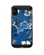 Detroit Lions Tropical Print iPhone XS Max Cargo Case
