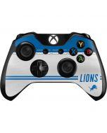 Detroit Lions White Striped Xbox One Controller Skin