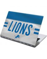 Detroit Lions White Striped Yoga 910 2-in-1 14in Touch-Screen Skin