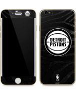 Detroit Pistons Black Animal Print iPhone 6/6s Skin