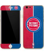 Detroit Pistons Canvas iPhone 6/6s Skin