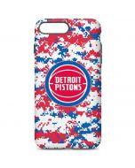 Detroit Pistons Digi Camo iPhone 7 Plus Pro Case