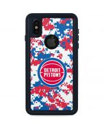 Detroit Pistons Digi Camo iPhone XS Waterproof Case