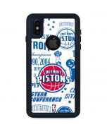 Detroit Pistons Historic Blast iPhone XS Waterproof Case
