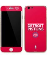 Detroit Pistons Standard - Red iPhone 6/6s Skin