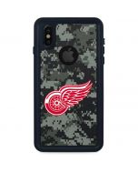 Detroit Red Wings Camo iPhone X Waterproof Case