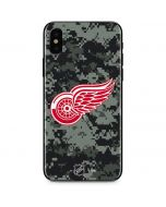 Detroit Red Wings Camo iPhone XS Skin
