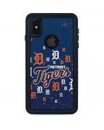 Detroit Tigers - Primary Logo Blast iPhone XS Waterproof Case