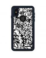 Dissolution - Black iPhone XS Waterproof Case
