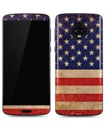 Distressed American Flag Moto G6 Skin