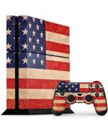 Distressed American Flag PS4 Console and Controller Bundle Skin