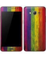 Distressed Rainbow Flag Galaxy Grand Prime Skin