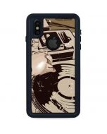 DJ Spinning iPhone XS Waterproof Case