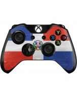 Dominican Republic Flag Faded Xbox One Controller Skin