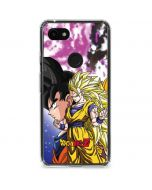 Dragon Ball Z Goku Forms Google Pixel 3a Clear Case