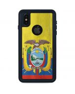 Ecuador Flag Distressed iPhone XS Waterproof Case