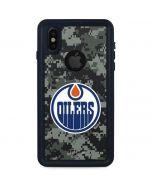 Edmonton Oilers Camo iPhone XS Waterproof Case